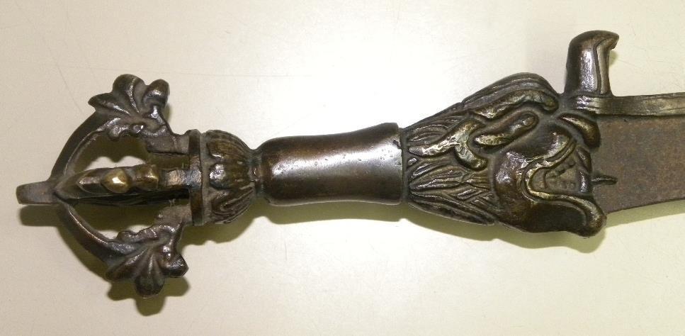 Pre 1940. RARE SMALL SWORD BRONZE FIGURES - 5