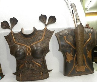 FEMALE CUIRASS CHEST PLATES DAGER BOW TWIN FACE SNAKE