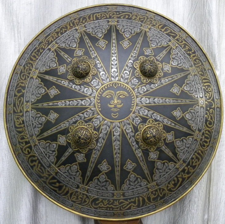 SHIELD MILITERY WARRIOR  PERSIAN SUN  RAYS CALLIGRAPHY