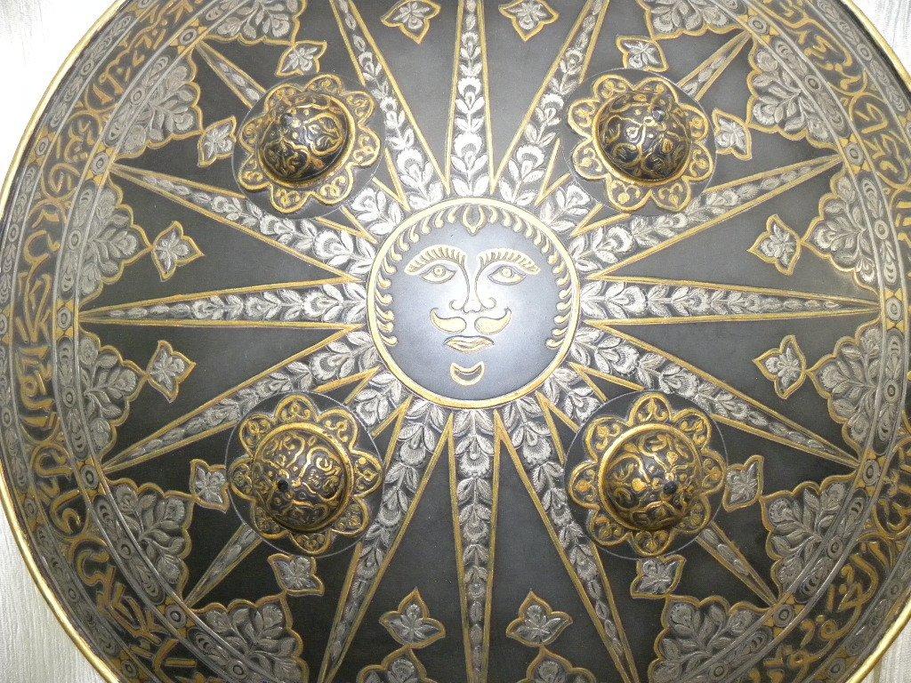 SHIELD MILITERY WARRIOR  PERSIAN SUN  RAYS CALLIGRAPHY - 2