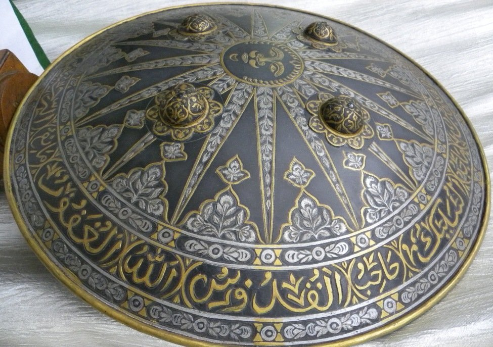 SHIELD MILITERY WARRIOR  PERSIAN SUN  RAYS CALLIGRAPHY - 3