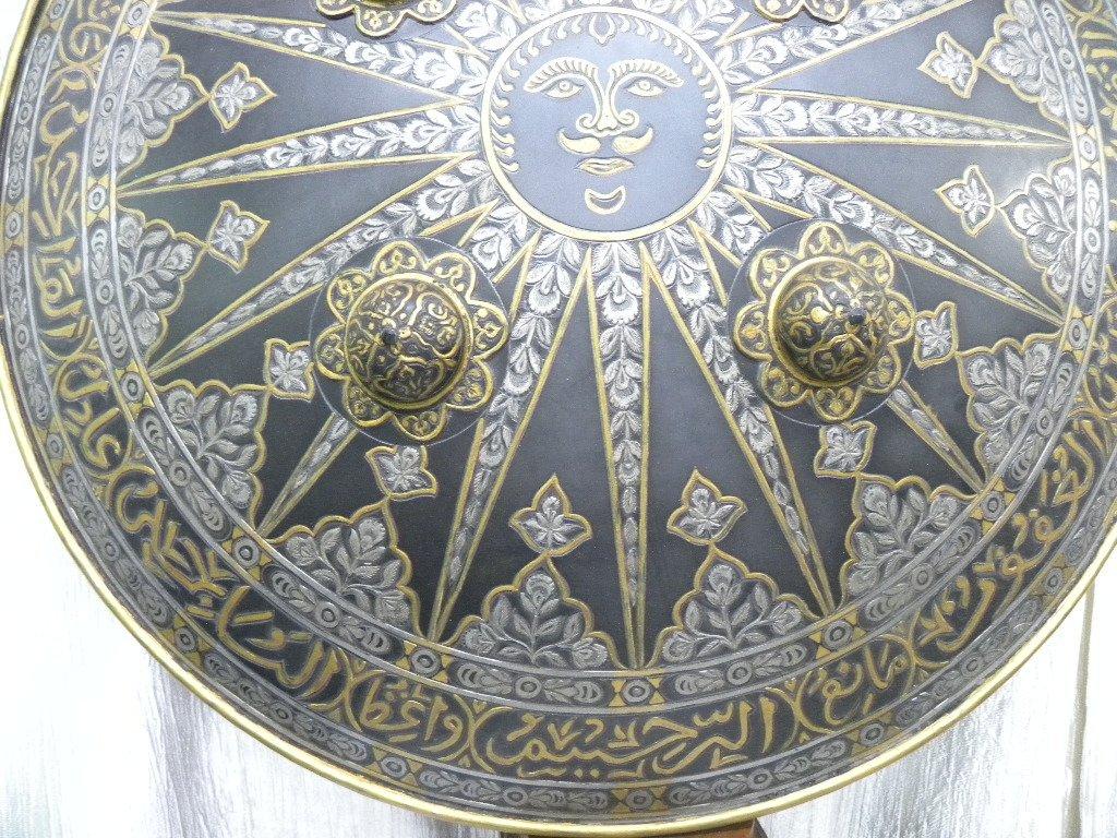 SHIELD MILITERY WARRIOR  PERSIAN SUN  RAYS CALLIGRAPHY - 5