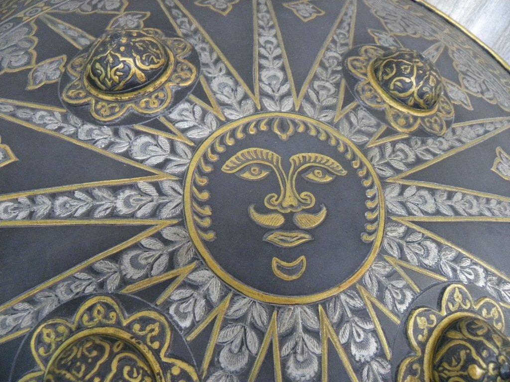 SHIELD MILITERY WARRIOR  PERSIAN SUN  RAYS CALLIGRAPHY - 8