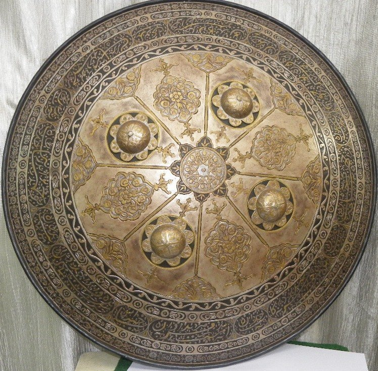 SHIELD MILITERY OTTOMAN CALLIGRAPHY ETCHED