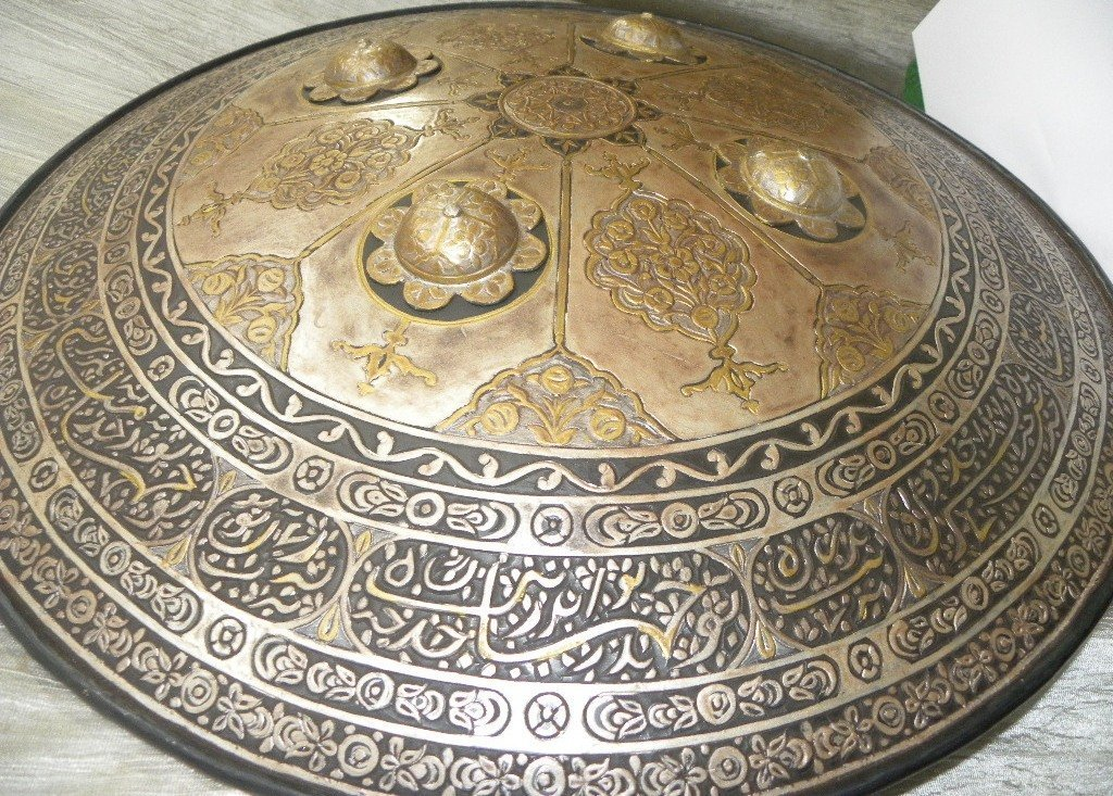 SHIELD MILITERY OTTOMAN CALLIGRAPHY ETCHED - 2