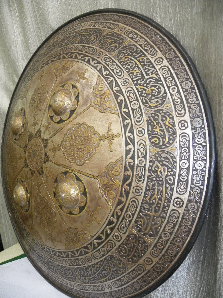 SHIELD MILITERY OTTOMAN CALLIGRAPHY ETCHED - 3