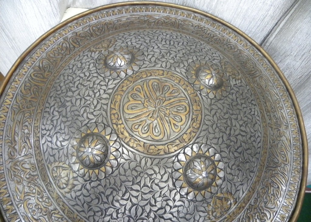 SHIELD MILITERY   WARRIOR PERSIAN CALLIGRAPHY ETCHED - 2
