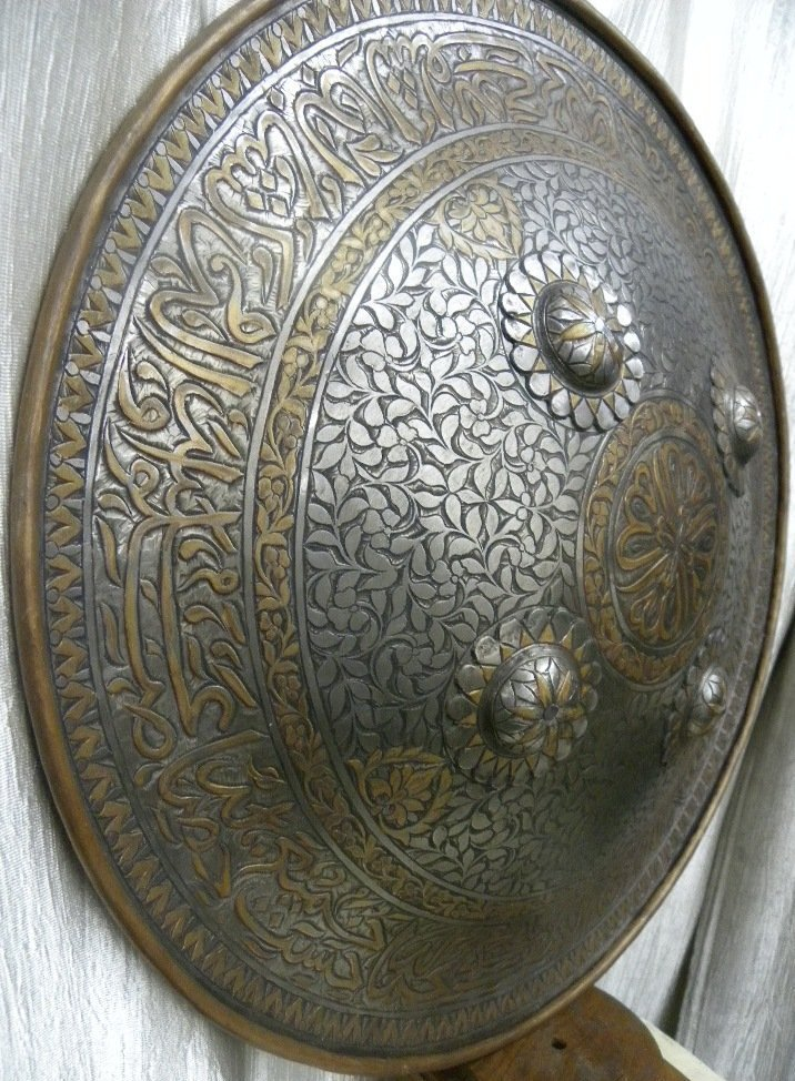 SHIELD MILITERY   WARRIOR PERSIAN CALLIGRAPHY ETCHED - 6