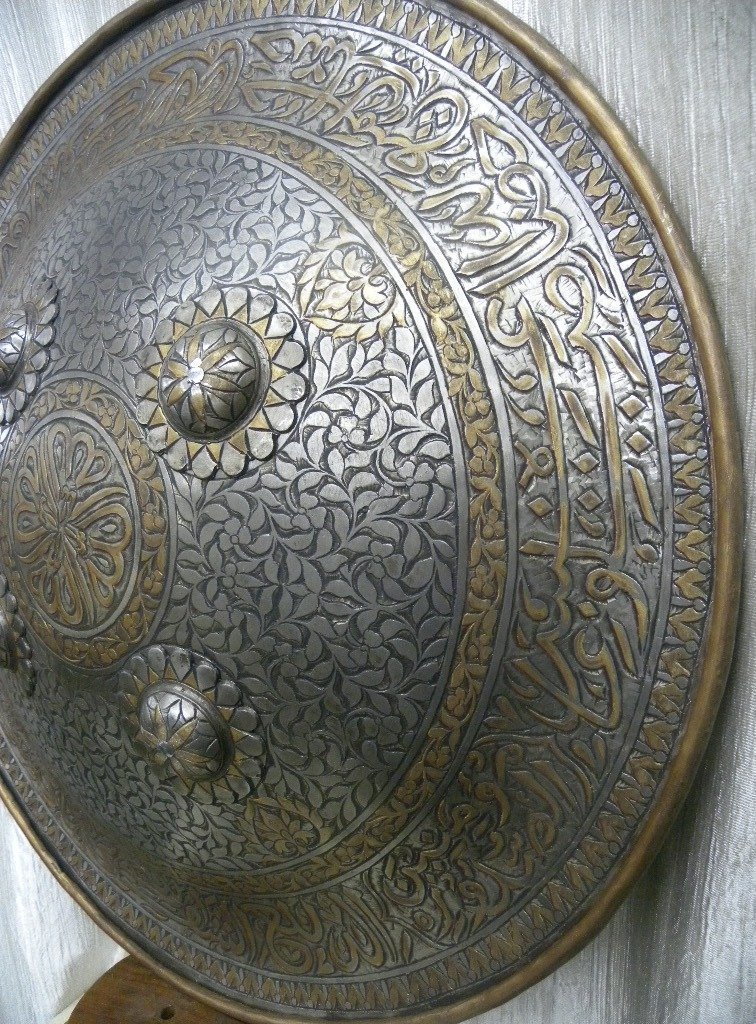 SHIELD MILITERY   WARRIOR PERSIAN CALLIGRAPHY ETCHED - 7