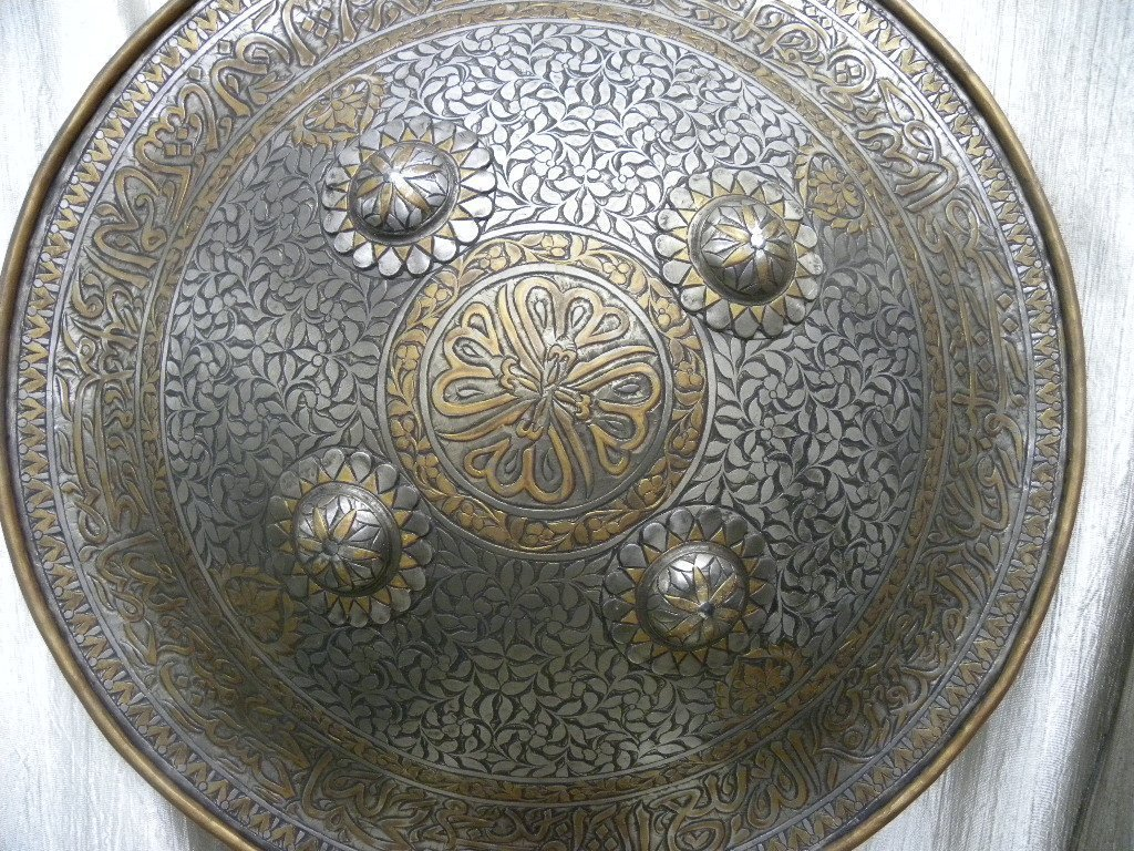 SHIELD MILITERY   WARRIOR PERSIAN CALLIGRAPHY ETCHED - 8