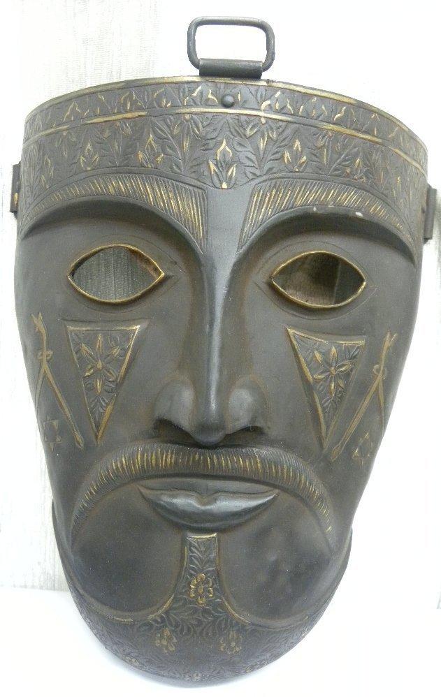 Vintage Islamic Persian Warrior Face Mask rare sign
