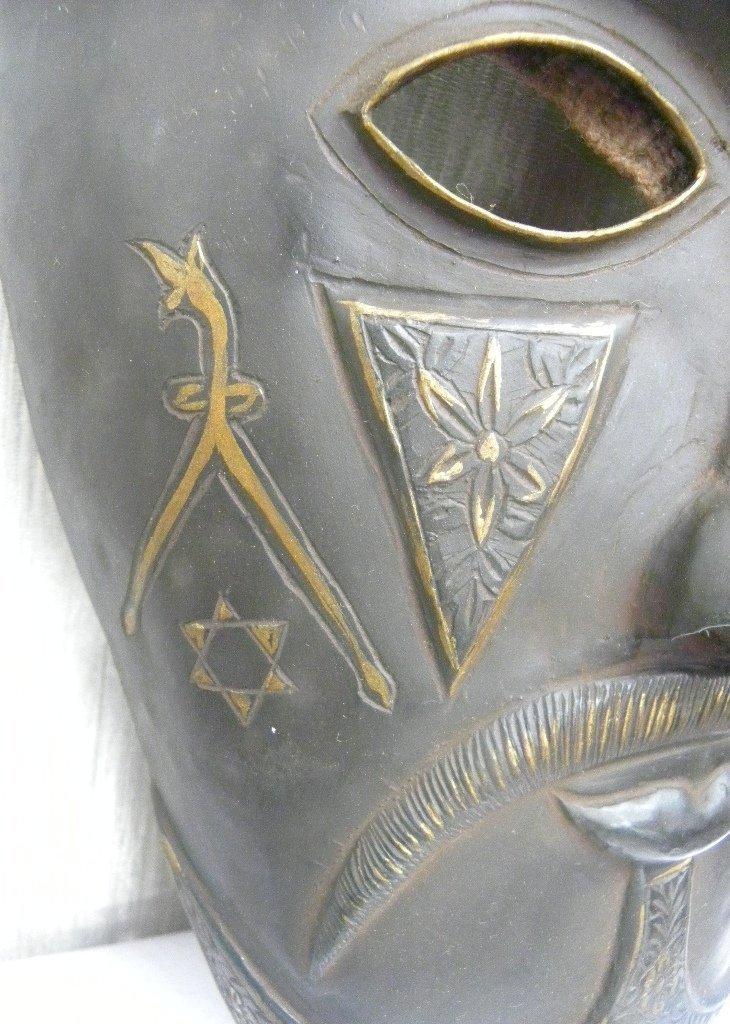 Vintage Islamic Persian Warrior Face Mask rare sign - 3