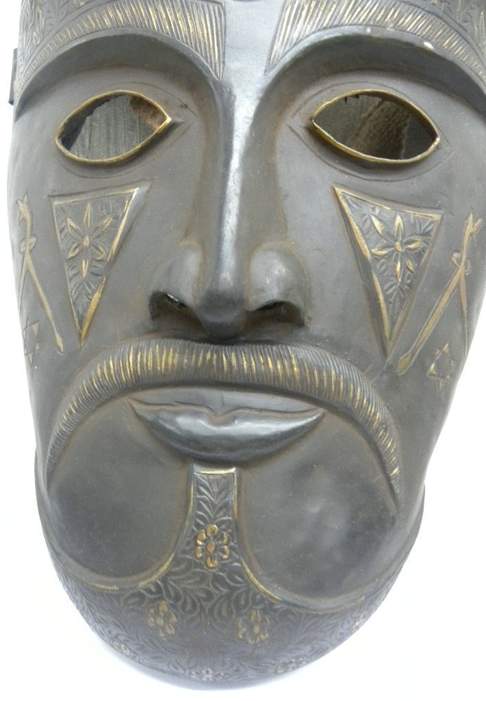 Vintage Islamic Persian Warrior Face Mask rare sign - 6