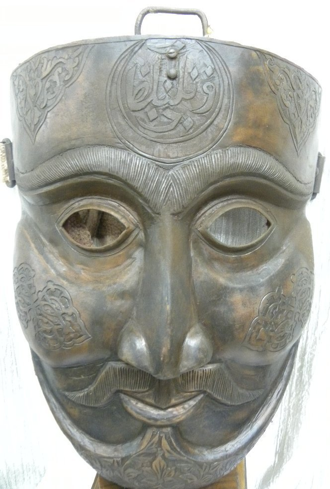 MILITERY FACE MASK WARRIOR  HALF MOON & ARABIC ETCHED