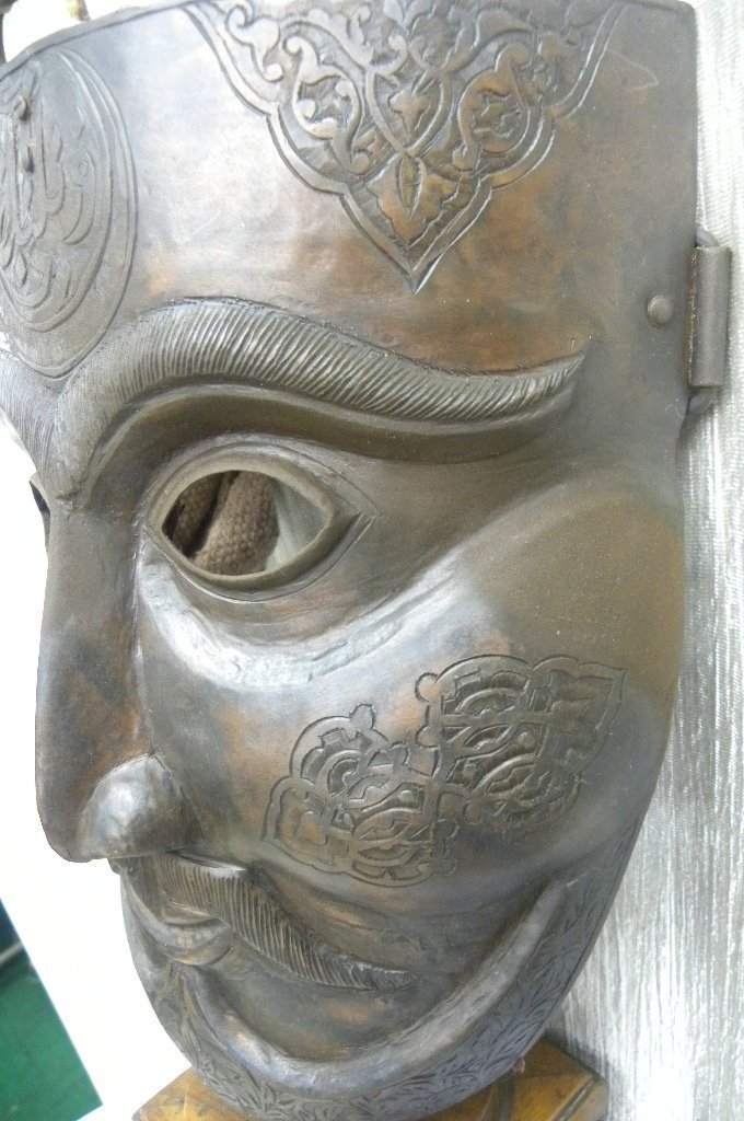 MILITERY FACE MASK WARRIOR  HALF MOON & ARABIC ETCHED - 2