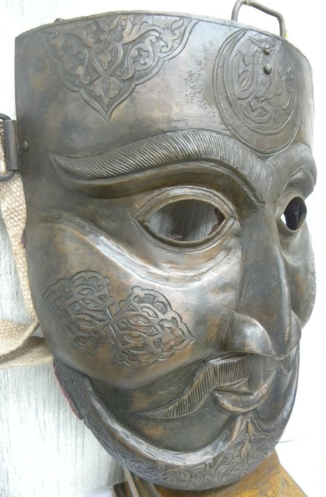 MILITERY FACE MASK WARRIOR  HALF MOON & ARABIC ETCHED - 3