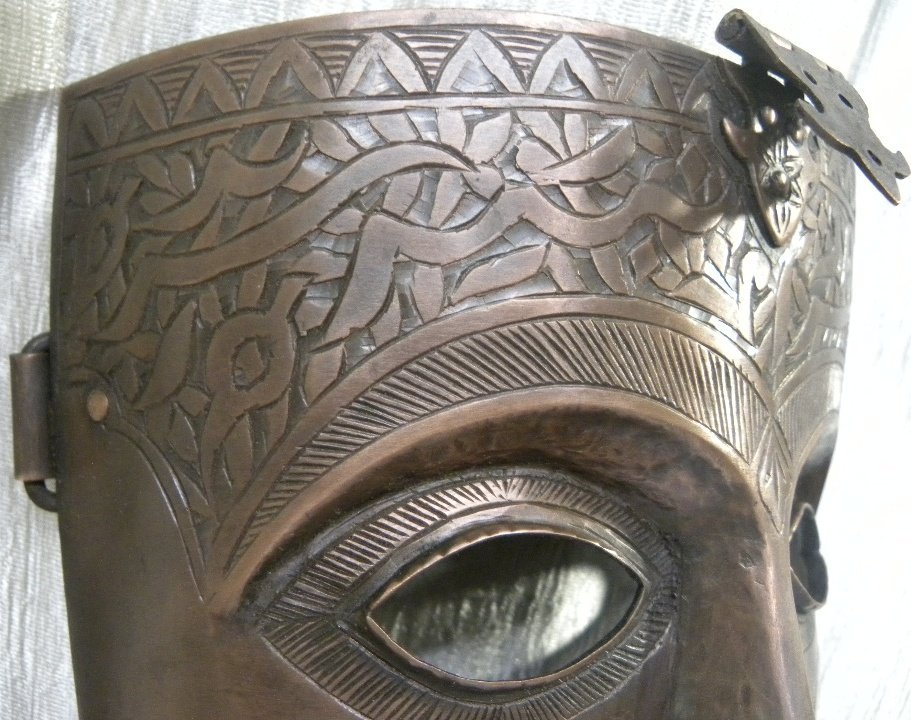 FACE MASK MILITERY PERSIAN CALLIGRAPHY ETCHED - 5