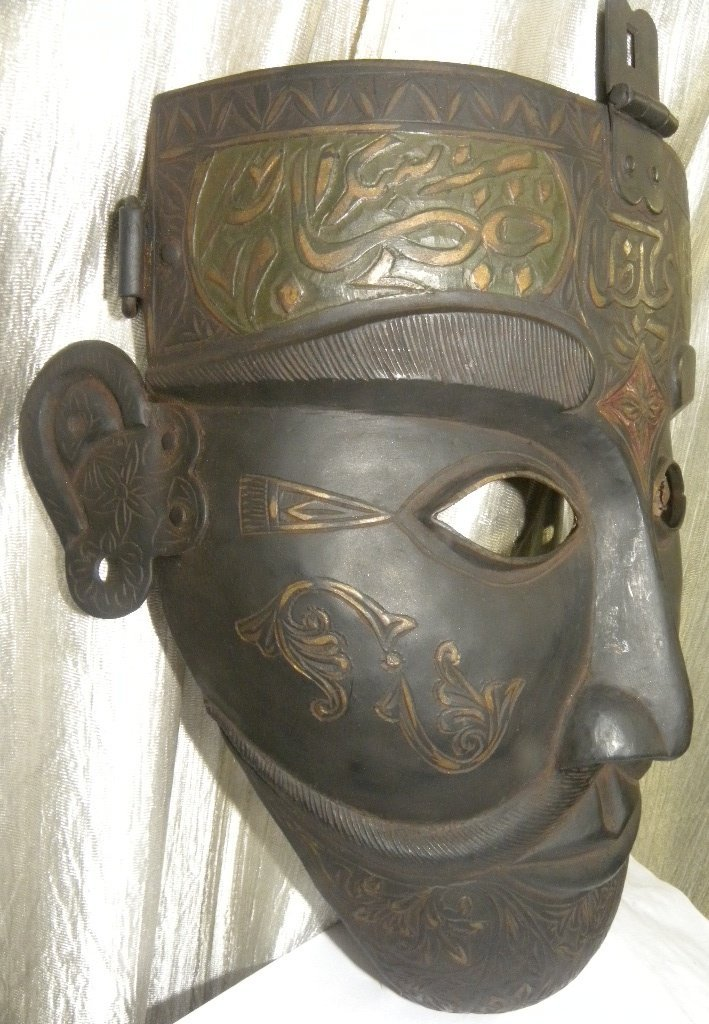 FACE MASK MILITERY WARRIOR ARABIC CALIGRAPHY ETCHED - 2