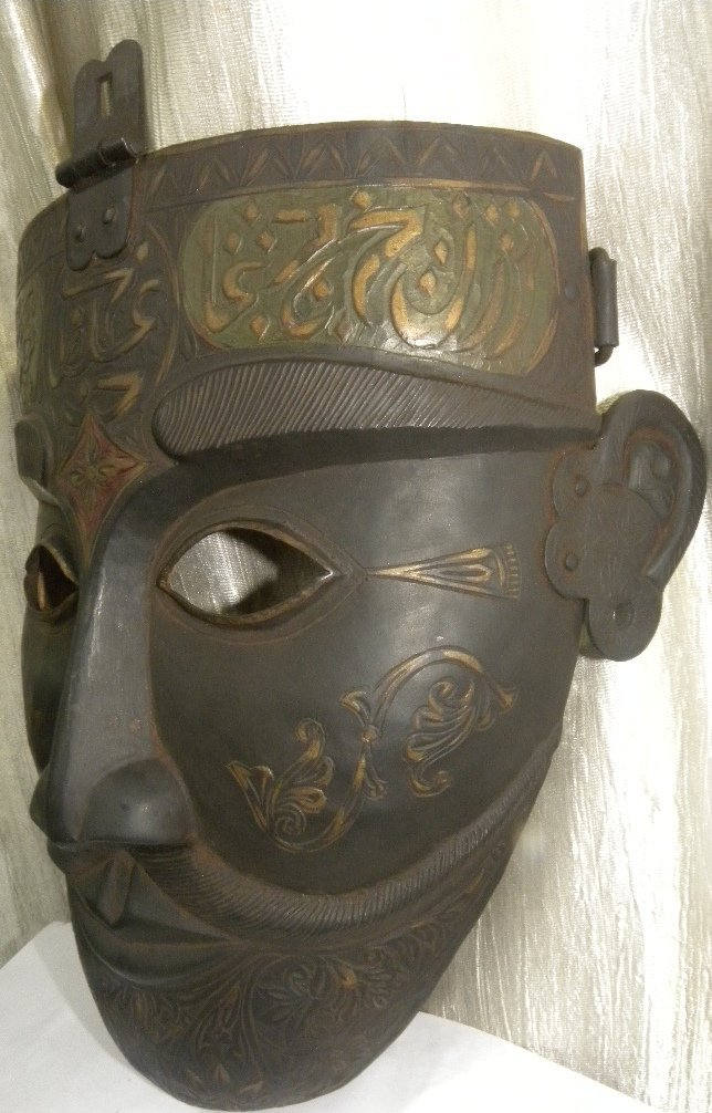FACE MASK MILITERY WARRIOR ARABIC CALIGRAPHY ETCHED - 3