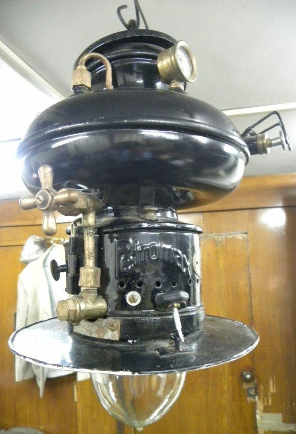 ANTIQUE GERMAN HANGING PETROMAX LAMP PRESSURE KEROSEN