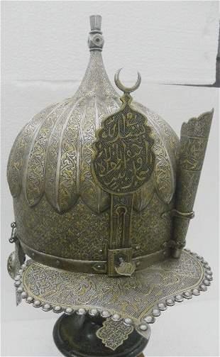 RAREST TURKISH WARRIOR HELMET VISOR NECK EAR GUARDS