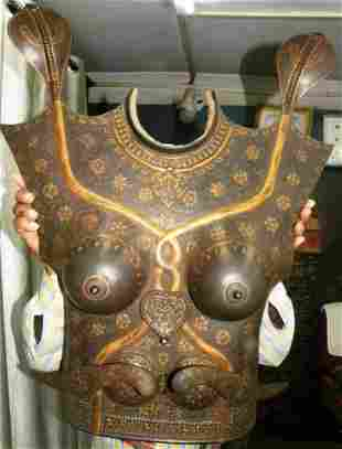 INCRECIBLE FEMALE WARRIOR CUIRASS CHEST PLATES SNAKE