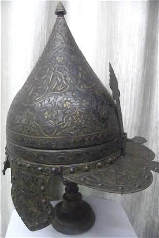 ANTIQ.TURKISH  WARRIOR HELMET VIOSR NECK EAR GUARD