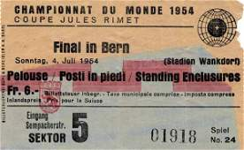 7053: World Cup 1954. Final Ticket Germany vs Hungary