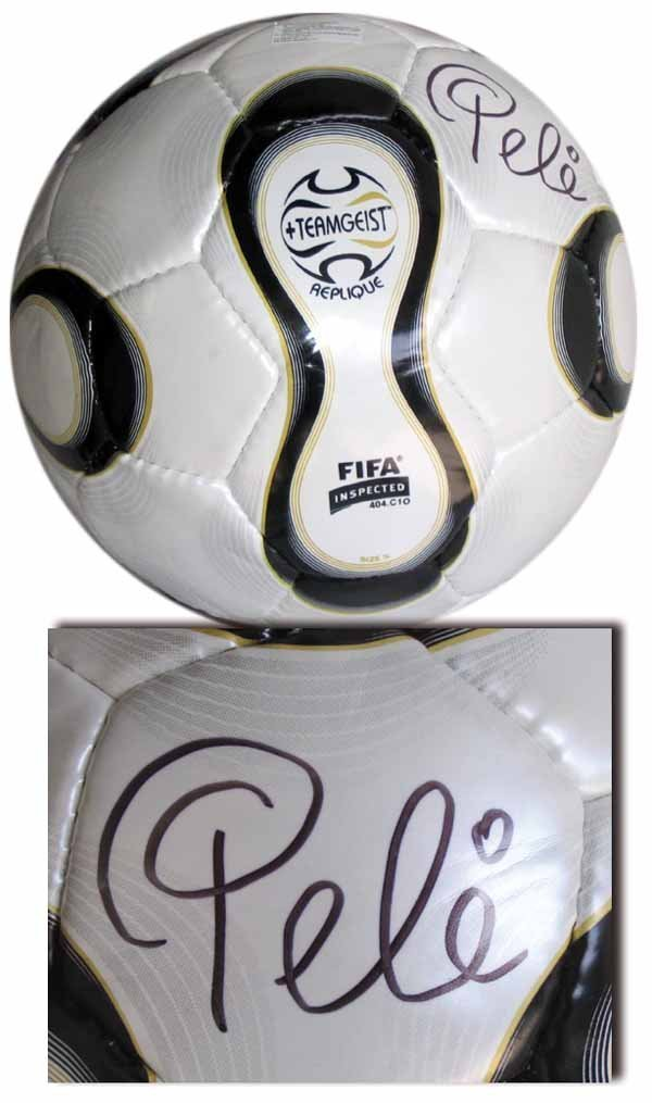 1006: World Cup 2006. FIFA-Ball with Pele Autograph