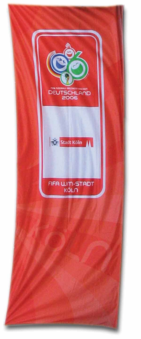 1007: World Cup 2006. FIFA-Banner Cologne 2,10 x 1,15 m