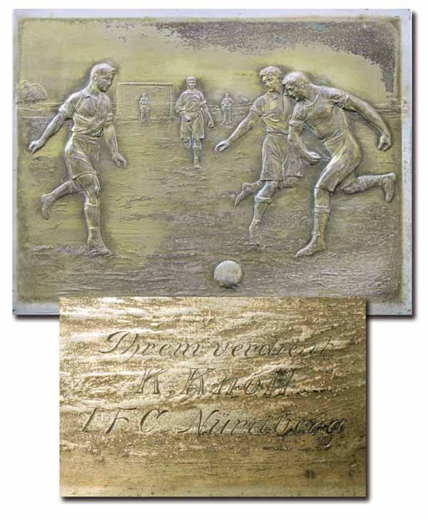 1021: German Football Plate 1914. 1.FC Nuernberg