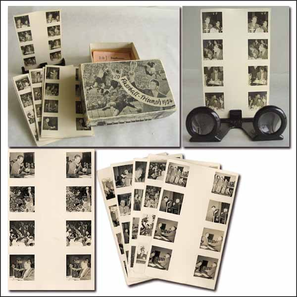 1022: Steroview cards. World Cup 1954 with glasses