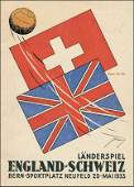 1422: Football Programm 1933. Switzerland v England