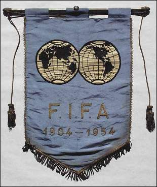 1003: Official FIFA Anniversary Pennant 1954