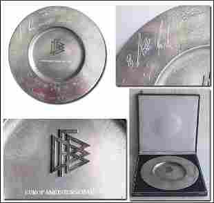 1004: Euro 1980. Pewter plate of Honour from German FA