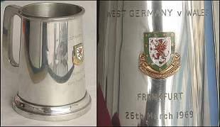 1008: Beaker Football match Germany v Wales 1969