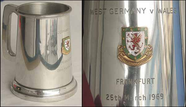 1008: Beaker Football match Germany v Wales 1969