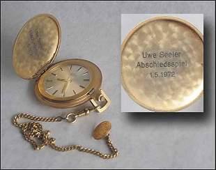 1010: German golden football watch