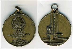 1014: World Cup 1930. Commemorative medal Uruguay