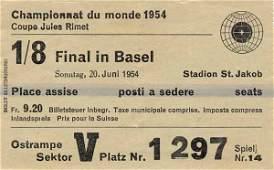 1033: World Cup 1954. Ticket Germany v Hungary