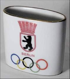 1793: Olympic games 1936. Commemorative porcelain vase