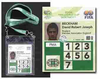 7001: World Cup 2006 Identity Card from David Beckham