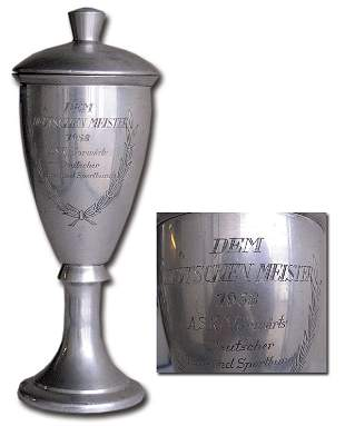 7004: German (GDR) Champions Cup 1958 Vorwaerts Berlin