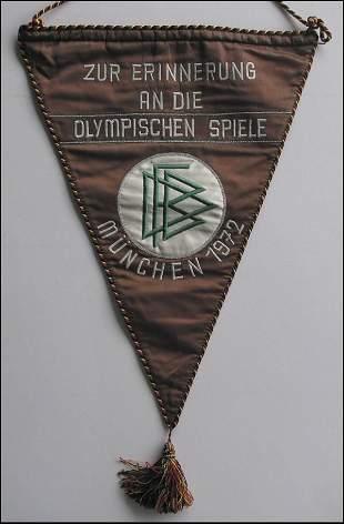 7007: Olympic games 1972. Match pennant German Football