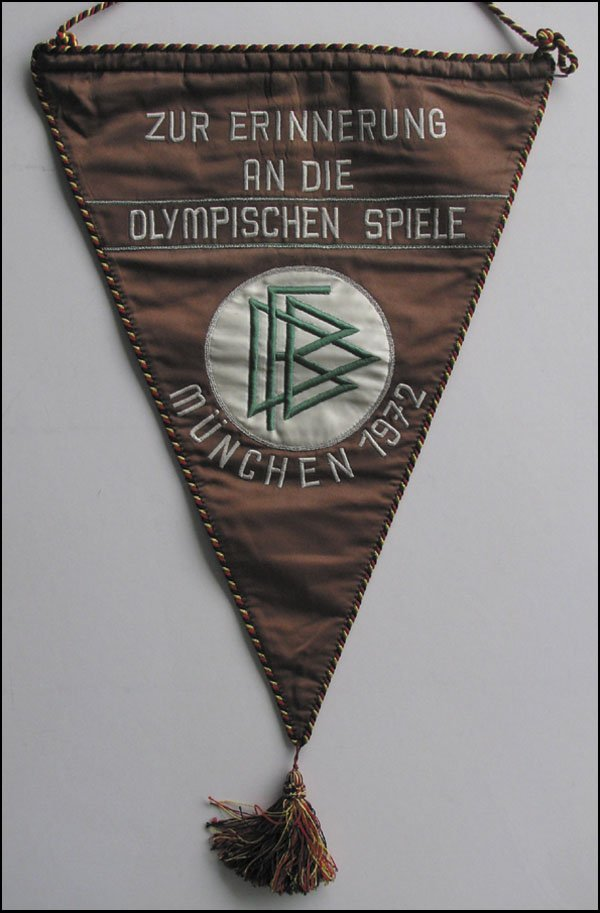 7007: Olympic games 1972. Match pennant German Football