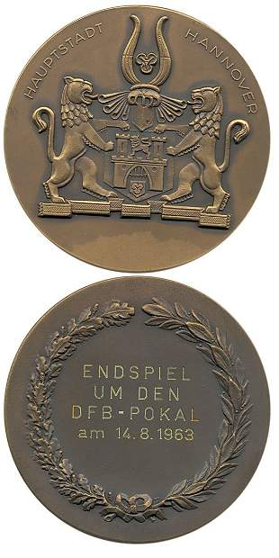 7009: Football Participation medal German Cup Final 63