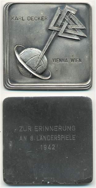 7010: German Football Plaque 1942