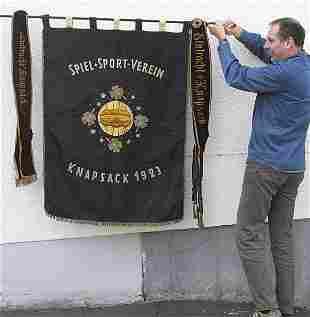 7011: Old German Football Club Flag 1925 Eintracht Knap