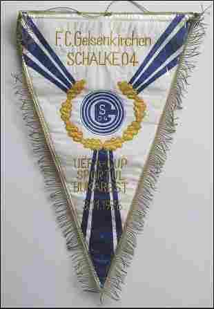 7014: Schalke 04 Football match pennant Eurocup 1976