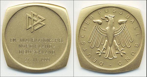 7022: Participation medal Germany v Northern Ireland 99